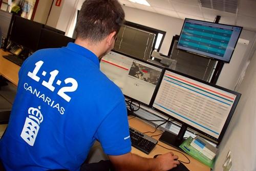 sala operativa del centro coordinador de emergencias y seguridad